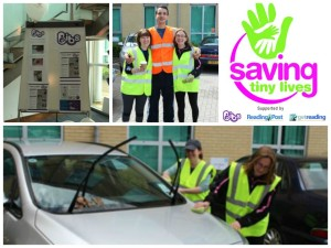 Sponsored car wash by Towry Ltd in Bracknell raised £250 for BIBS' Saving Tiny Lives incubator appeal
