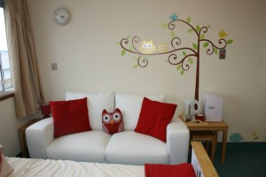 A close up view on the new parents' flat in Buscot ward
